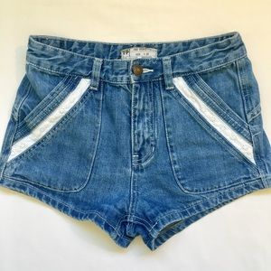 Free People Jeans - Shorts w/ Lace Design